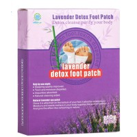 Пластырь - детокс на стопы с лавандой Lavender Detox Foot Patch Kongdy (5 пар/10 шт.)