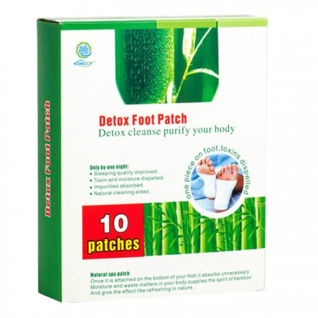 Пластырь детокс для ног на стопы с бамбуком Detox Foot Patch Kongdy (5 пар/10 шт.)