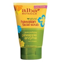 "Энзимный скраб для лица Natural Hawaiian Facial Scrub ""Pineapple Enzyme"" Alba Botanica"